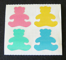 Vintage 1984 Small World Greetings Red TEDDY BEAR Mylar Foil Stickers