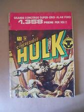 L'INCREDIBILE HULK n°5 1980 Gigante  Edizione Corno [G753B] DISCRETO