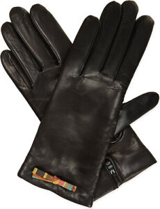 Paul Smith Women's Gloves - BNWT Signature Multi Swirl Bow Leather & Cashmere