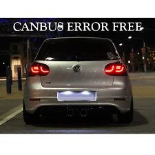 * VW Golf MK4 MK5 Cool Blanco LED Número De Matrícula Bombillas Libre De Errores GTD GTI se