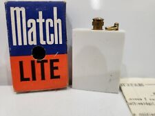 Match Lite Striker WHITE Lighter New / Vintage Retro with Box & Instructions
