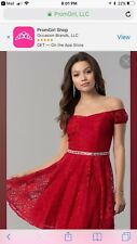 PROM GIRL SIZE LARGE RED LACE SHORT DRESS HOMECOMING, PROM,BALL,GRADUATION  NEW