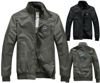 Spring Mens Slim Fit US Air Force Jacket Sports Casual Military Security Coat