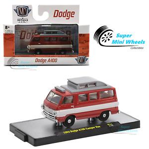 M2 Machines 1:64 - Auto-Meets - 1965 Dodge A100 Camper Van (Red)