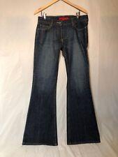 Authentic FCUK Brand Medium Dark Blue Flare Jeans Women Size 6 Great Condition