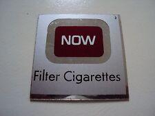 NOW Foil Vintage Original Cigarette Vending Machine Plastic Label Tag 2x2 NOS