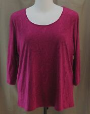 St. John��s Bay Woman, 2X, Lafayette Rose Paisley Knit Top, New with Tags
