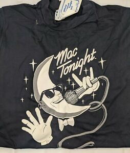 Vintage 1988 McDonalds Mac Tonight Black RP Sportswear 100% Cotton Large T-shirt