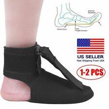 1-2PC Adjustable Plantar Fasciitis Night Splint Foot Drop Brace Heel Pain Relief