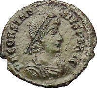 CONSTANTIUS II Constantine the Great  son Ancient Roman Coin Horse man i29924