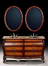 "Vanity cabinet classic 63"" bathroom double sinks vanity cabinet"