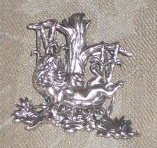 VINTAGE LARGE DISNEY LION KING SIMBA STERLING SILVER 3D BROOCH PENDANT