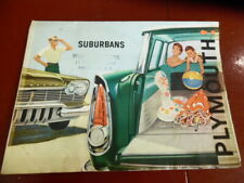 1950 's PLYMOUTH SUBURBAN DEALERSHIP SALES BROCHURE 1951 1952 1953 1954