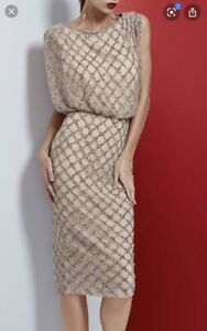 Rachel Gilbert Yulia gold dress Sz 3 (12-14)