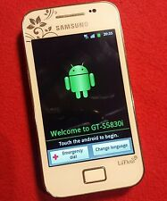 Samsung Galaxy Ace GT-S5830i  White (la Fleur )EE Android Smartphone
