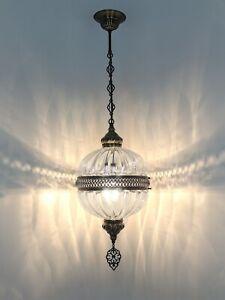 Amazing Turkish lamp,Pyrex pendant fixture ceiling chandelier light