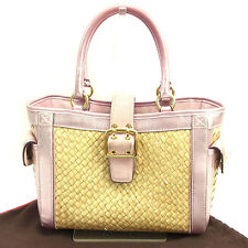 Coach Handbag Beige Pink Woman Authentic Used Y6910