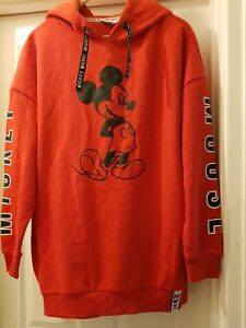 Women's Primark Mickey Mouse Hoodie Size Large
