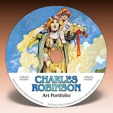CHARLES ROBINSON - Over 1000 Illustrations on DVD! * Colour Plates * Pen & Ink