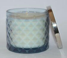 BATH & BODY WORKS SMOKED VANILLA CANDLE 13.5 OZ 3 WICK LARGE BLUE DIAMOND GLASS