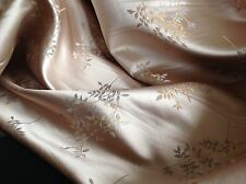 """NEW Tea Pink Gold Floral Jacquard Brocade Fabric 57""""145cm Dress Sharara Langa Jo"""