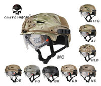Emerson Airsoft Tactical Helmet Combat EXF BUMP Helmet with Goggle