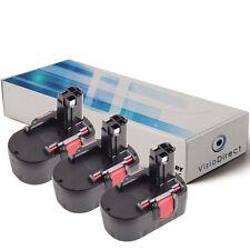 Lot de X3 batteries 14.4V 3000mAh pour BOSCH GDR 14.4 V  - Société Française -