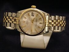 Rolex Datejust Men 2Tone 14K Gold Stainless Steel Watch Silver Jubilee Band 1601