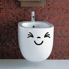 3 Smiley Face Toilet Decal Wall Decal Bathroom Sticker  Set of 3