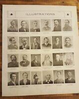 Antique Illust. (MEN) ATLAS OF Kalamazoo Co., Michigan/Ogle & Co 1910