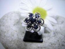 Anelli di lusso con gemme zaffiro , Misura anello 18