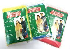 2PCS Disposable Adult Waterproof Emergency Raincoat Hood PONCHO Universal Size
