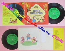 LP 45 7'' THREE LITTLE PIGS See hear read WALT DISNEY 303 24 page book cd mc dvd