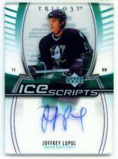 "JOFFREY LUPUL ""ICE SCRIPTS AUTOGRAPH CARD"" UD TRILOGY 06/07"