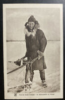 Mint France Real Picture Postcard Missionary Traveling Arctic Circle