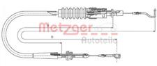 Gaszug METZGER 14.4304 für VW
