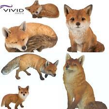 More details for vivid arts real life sculptures ornaments indoor outdoor decorative fox cub