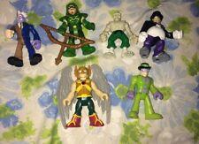 LOT 6 Imaginext Super Heroes Villains DC Comics Justice League Toy Figures Arrow