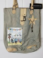 Beach Bag Purse Recycle Canvas Going Vacation Vintage Addiction