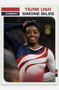 SIMONE BILES TEAM USA 2012-2016 OLYMPIC GYMNAST CUSTOM ROOKIE RC TRADING CARD