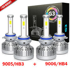 JDM ASTAR G3 9005+9006 Combo LED Headlight Kit Low High Beam 6000K 8000LM Lights