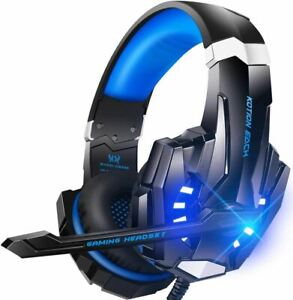 BENGOO G9000 Stereo Gaming Headset for PS4 PC Xbox One PS5 Controller, Noise Can