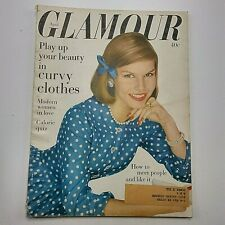 Glamour Magazine April 1959 Pat Otis Curvy Clothes Modern Women in Love Vtg Ads