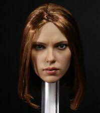 1/6 Scarlett Johansson aka BLACK WIDOW 6.0  SHORT BROWN HEAD - NEW