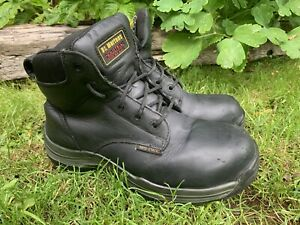 dr martens airwair steel toe cap black leather Boots in size UK 6