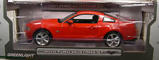 RED 2010 FORD MUSTANG GT GREENLIGHT 1:18 SCALE DIECAST METAL MODEL CAR