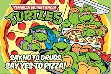 SAY NO TO DRUGS YES TO PIZZA TEENAGE MUTANT NINJA TURTLES RETRO POSTER NEW 36x24