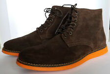 Ask the Missus Mars Lace Boots Chocolate Brown Suede Orange Sole UK 10 / EU 44