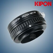 Kipon Adapter with Focus Helicoid for Pentax DA Mount Lens to Sony E A7R2 Camera