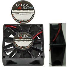 "NEW 70mm*25mm Ball Bearing Fan UTEC AT7025L-05H2B-PD1 5VDC/4V/5V 12""2wire tinned"